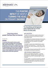 The Positive Impact Of Gently Turning The Head On Primary Snoring
